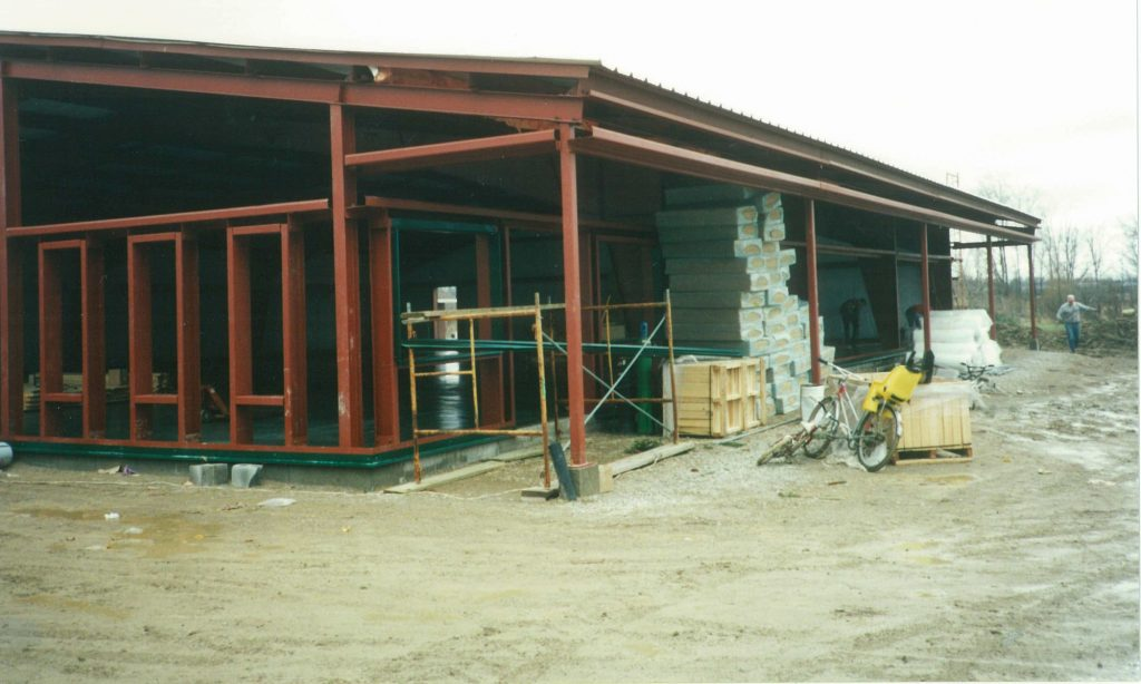 The New Unger's Market, going up in Hyde Park, 1995.
