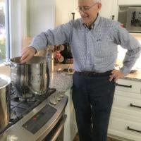 Grandpa in the kitchen